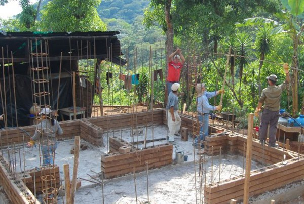 Building a home with compressed earth blocks