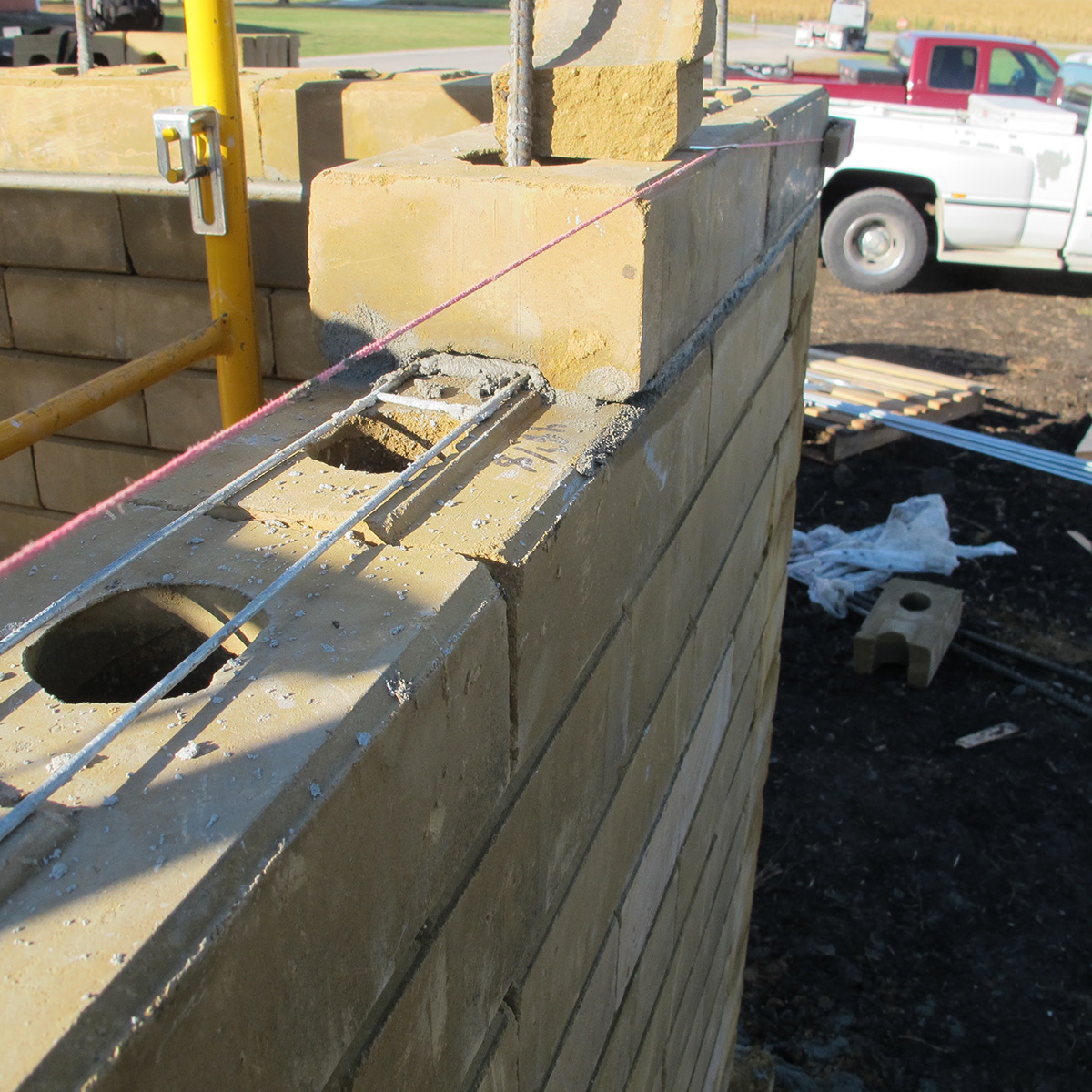 Horizontal Rienforcement - Compressed Earth Block Construction