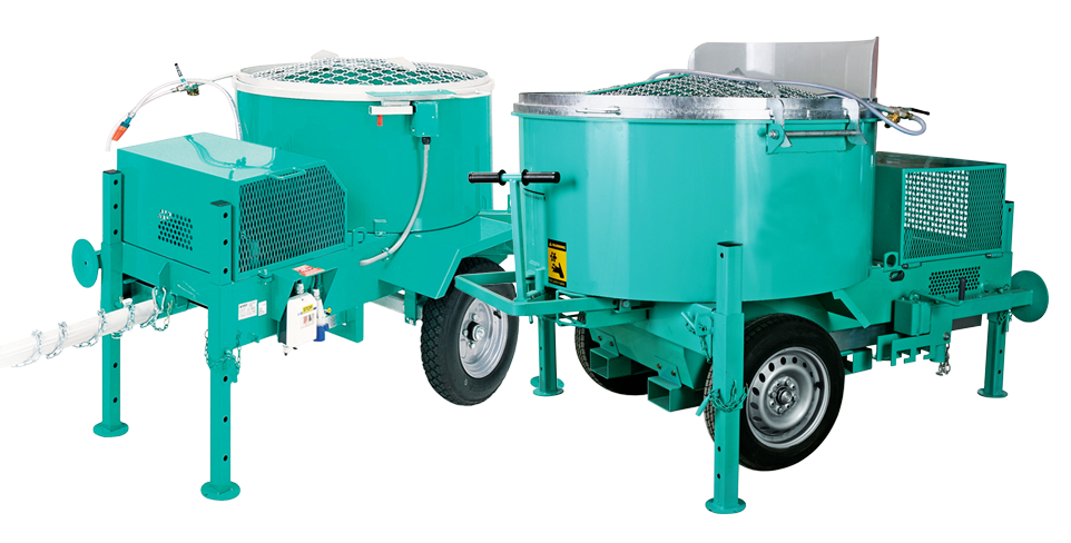 Soil mixers for cement, concrete, and compressed earth block