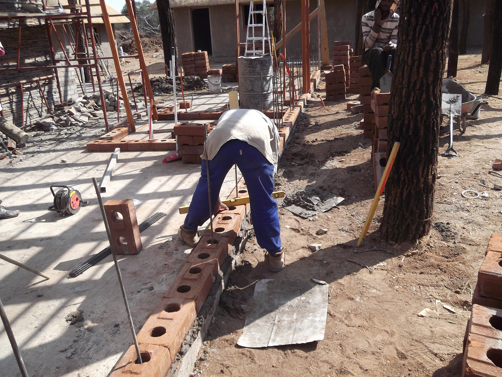 Compressed Earth Block Building Guide How To Build With Ceb Electrical Wiring In Cinder Walls Finished Wall